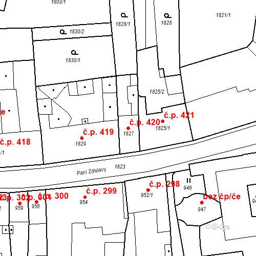 Katastrální mapa Stavební objekt Česká Lípa 420, Česká Lípa