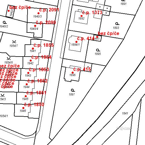 Katastrální mapa Stavební objekt Česká Lípa 415, Česká Lípa