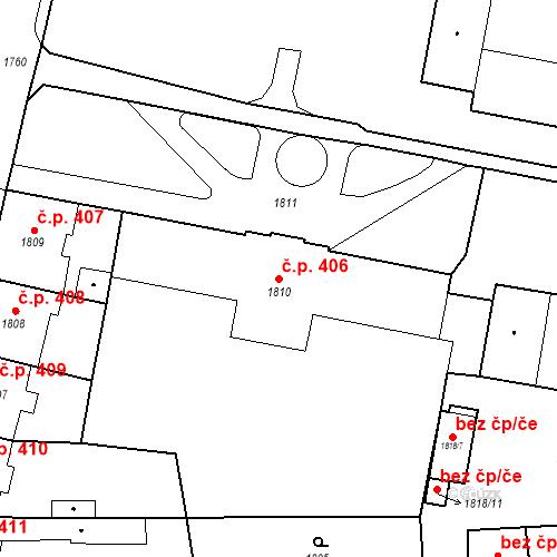 Katastrální mapa Stavební objekt Česká Lípa 406, Česká Lípa