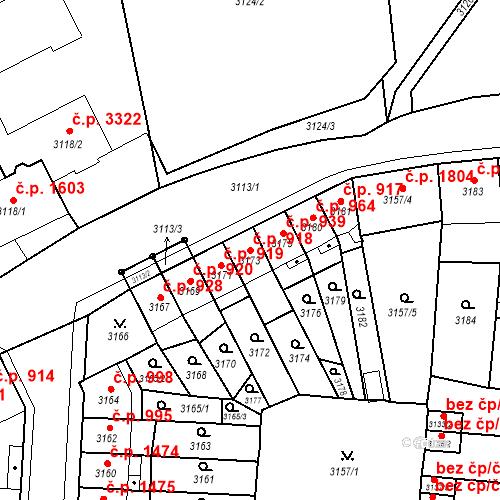 Katastrální mapa Stavební objekt Česká Lípa 918, Česká Lípa