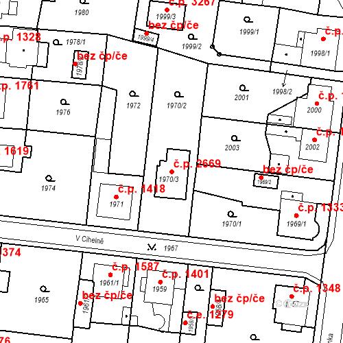 Katastrální mapa Stavební objekt Česká Lípa 2669, Česká Lípa