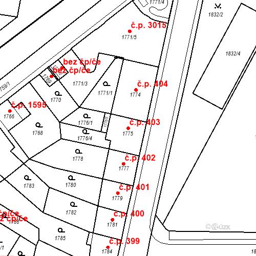 Katastrální mapa Stavební objekt Česká Lípa 403, Česká Lípa