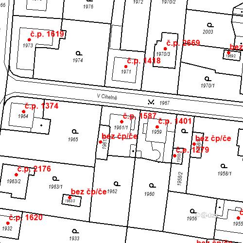 Katastrální mapa Stavební objekt Česká Lípa 1587, Česká Lípa