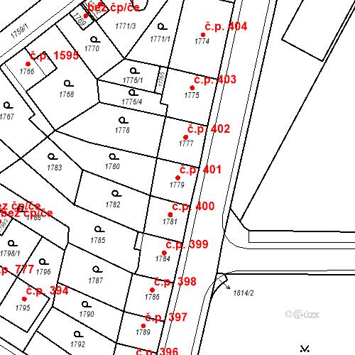 Katastrální mapa Stavební objekt Česká Lípa 401, Česká Lípa