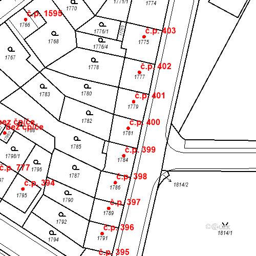 Katastrální mapa Stavební objekt Česká Lípa 400, Česká Lípa