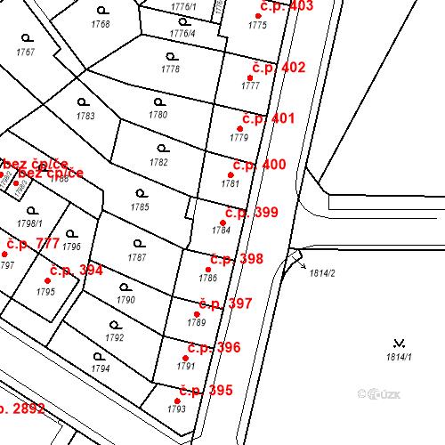 Katastrální mapa Stavební objekt Česká Lípa 399, Česká Lípa