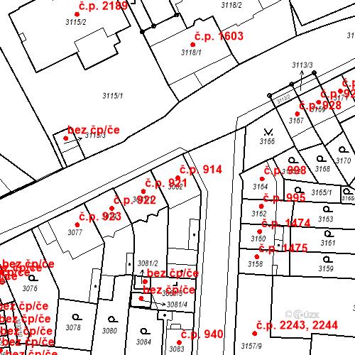 Katastrální mapa Stavební objekt Česká Lípa 914, Česká Lípa