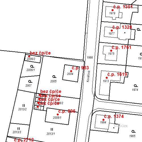Katastrální mapa Stavební objekt Česká Lípa 903, Česká Lípa
