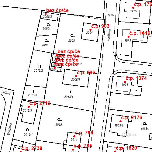 Katastrální mapa Stavební objekt Česká Lípa 896, Česká Lípa