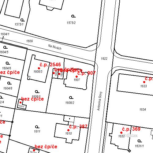 Katastrální mapa Stavební objekt Česká Lípa 907, Česká Lípa