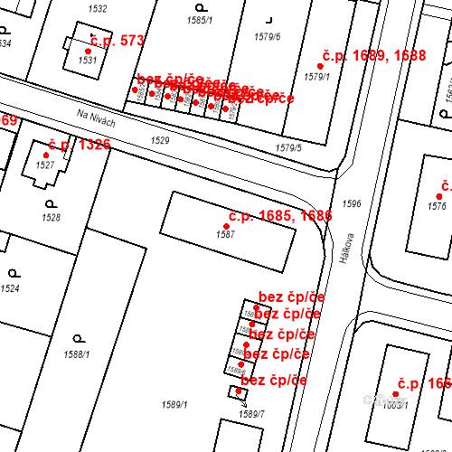 Katastrální mapa Stavební objekt Česká Lípa 1685, 1686, Česká Lípa