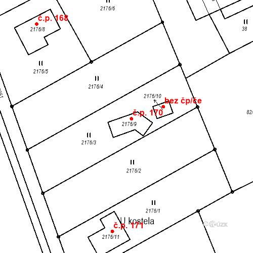 Katastrální mapa Stavební objekt Dvory nad Lužnicí 170, Dvory nad Lužnicí