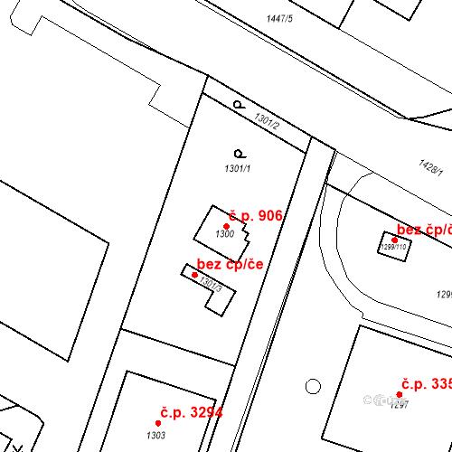 Katastrální mapa Stavební objekt Česká Lípa 906, Česká Lípa