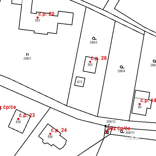 Katastrální mapa Stavební objekt Dolní Lomnice 11, Kunice