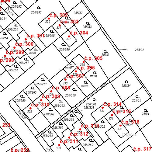 Katastrální mapa Stavební objekt Jenštejn 306, Jenštejn