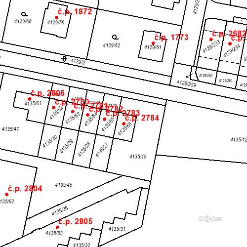 Katastrální mapa Stavební objekt Horní Počernice 2784, Praha