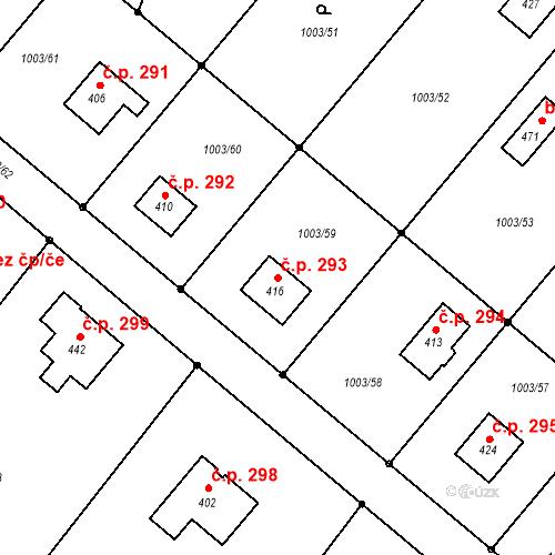 Katastrální mapa Stavební objekt Horní Libchava 293, Horní Libchava