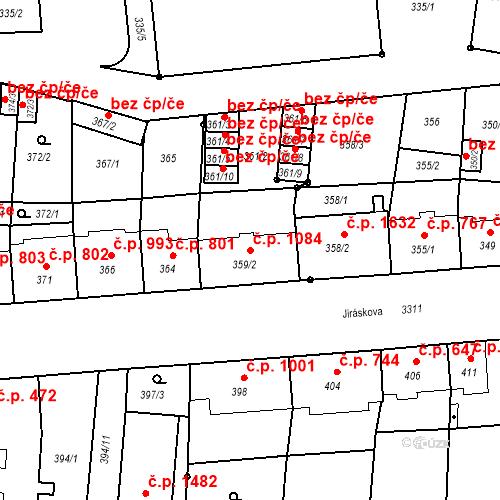 Katastrální mapa Stavební objekt Benešov 1084, Benešov