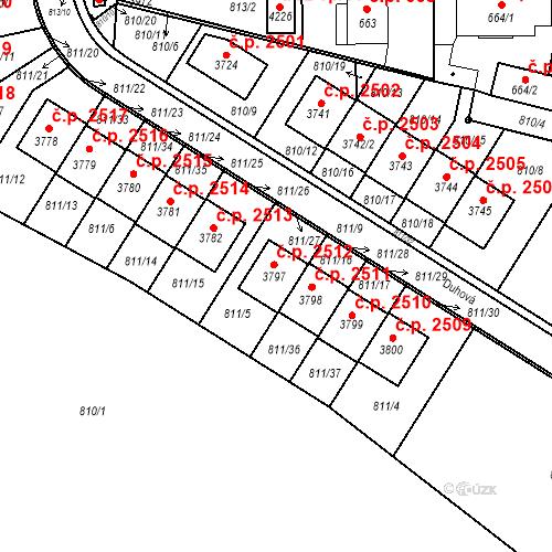 Katastrální mapa Stavební objekt Říčany 2512, Říčany