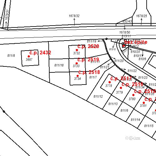 Katastrální mapa Stavební objekt Říčany 2518, Říčany