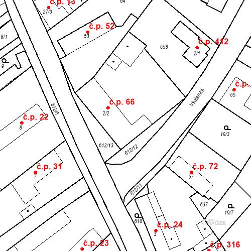 Katastrální mapa Stavební objekt Chrást 66, Tišice