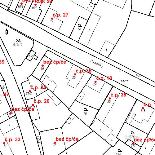 Katastrální mapa Stavební objekt Chrást 35, Tišice