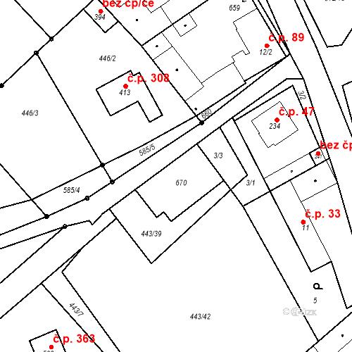 Katastrální mapa Stavební objekt Chrást 44, Tišice