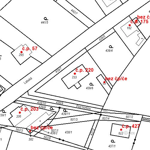 Katastrální mapa Stavební objekt Chrást 220, Tišice