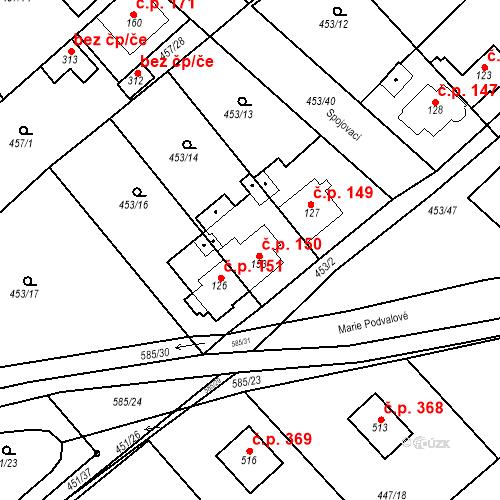 Katastrální mapa Stavební objekt Chrást 150, Tišice