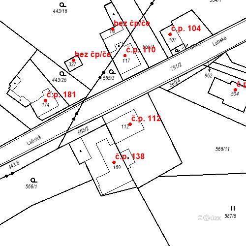 Katastrální mapa Stavební objekt Kozly 112, Tišice