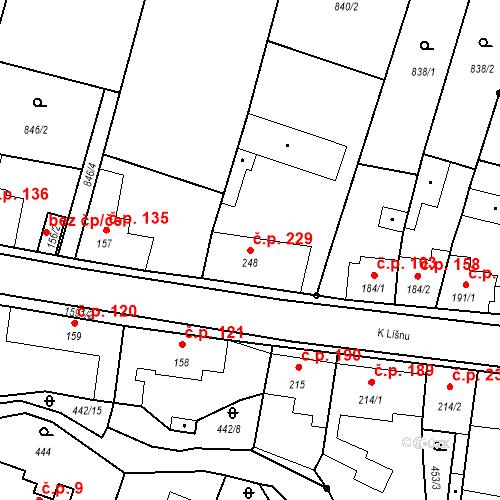Katastrální mapa Stavební objekt Bystřice 229, Bystřice