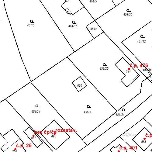 Katastrální mapa Stavební objekt Chrást 230, Tišice