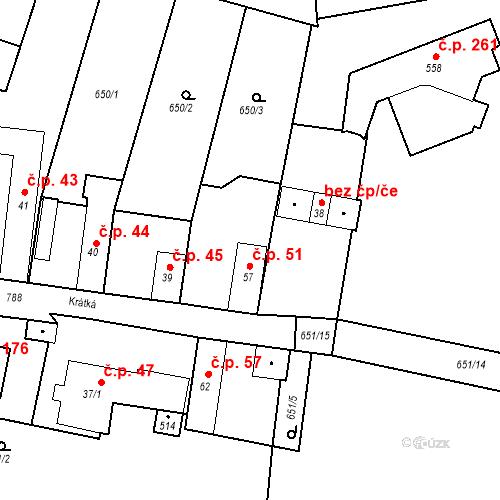 Katastrální mapa Stavební objekt Kozly 96, Tišice