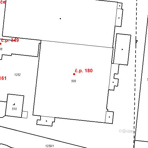 Katastrální mapa Stavební objekt Bystřice 180, Bystřice