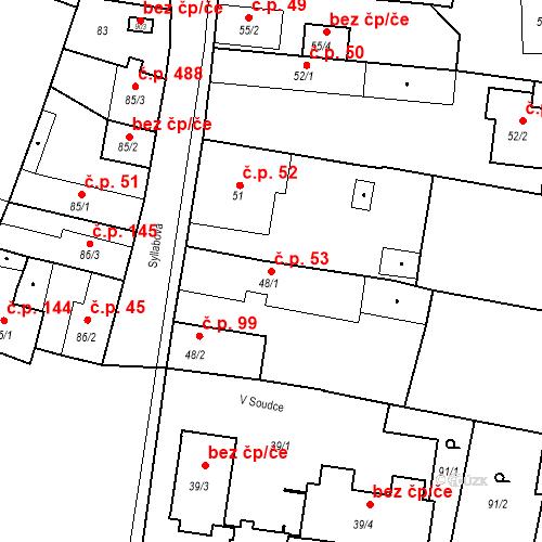 Katastrální mapa Stavební objekt Bystřice 53, Bystřice