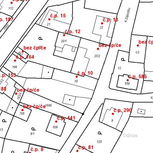 Katastrální mapa Stavební objekt Bystřice 10, Bystřice