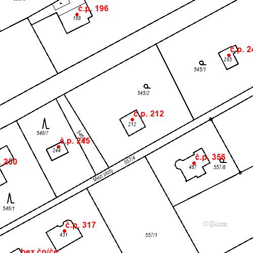 Katastrální mapa Stavební objekt Chrást 212, Tišice