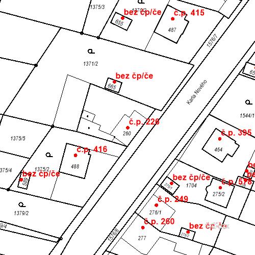 Katastrální mapa Stavební objekt Bystřice 226, Bystřice