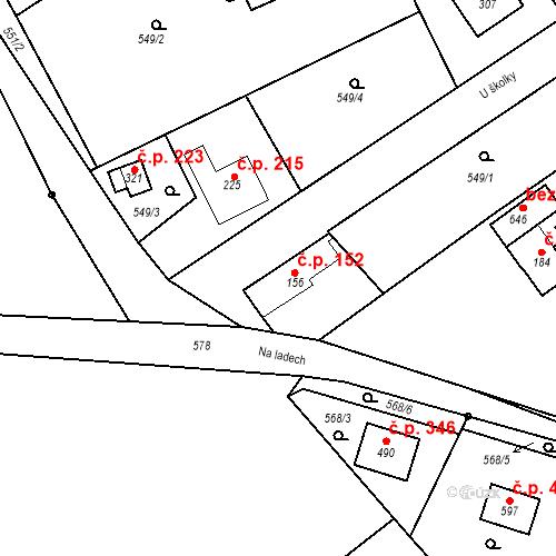 Katastrální mapa Stavební objekt Chrást 152, Tišice