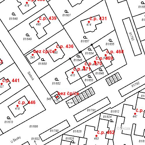 Katastrální mapa Stavební objekt Nupaky 471, Nupaky