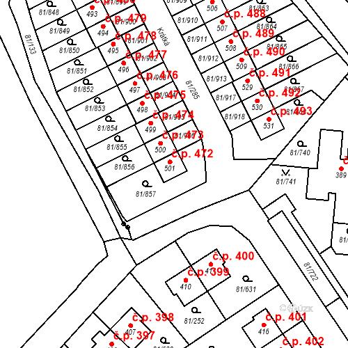 Katastrální mapa Stavební objekt Nupaky 472, Nupaky
