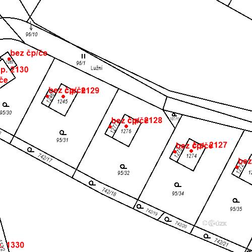 Katastrální mapa Stavební objekt Ládví 2128, Kamenice