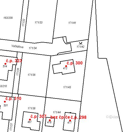 Katastrální mapa Stavební objekt Čestlice 300, Čestlice