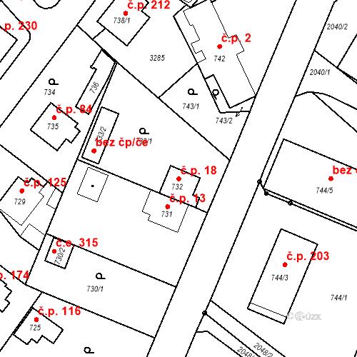 Katastrální mapa Stavební objekt Strkov 18, Planá nad Lužnicí