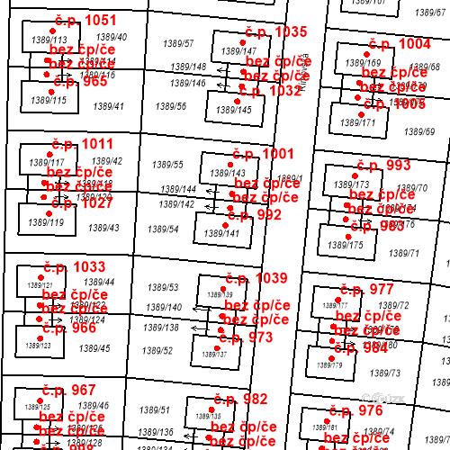 Katastrální mapa Stavební objekt Hloubětín 992, Praha