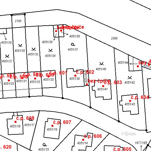 Katastrální mapa Stavební objekt Soběslav III 602, Soběslav