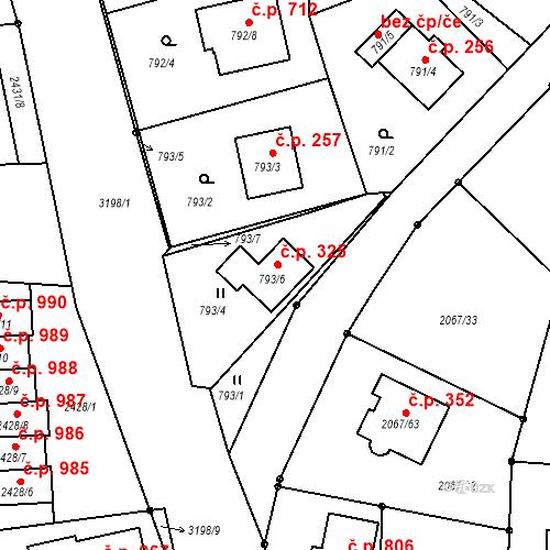 Katastrální mapa Stavební objekt Strkov 325, Planá nad Lužnicí