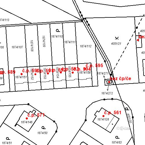 Katastrální mapa Stavební objekt Soběslav III 594, Soběslav