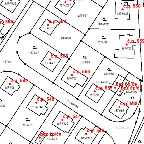Katastrální mapa Stavební objekt Soběslav III 556, Soběslav