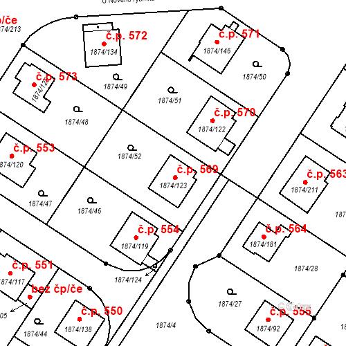 Katastrální mapa Stavební objekt Soběslav III 569, Soběslav